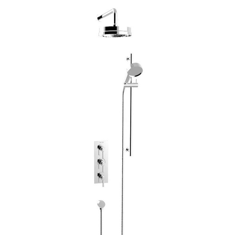 Heritage Somersby Recessed Shower with Deluxe Fixed Head and Flexible Kit - Chrome - SSOBDUAL03 profile large image view 1