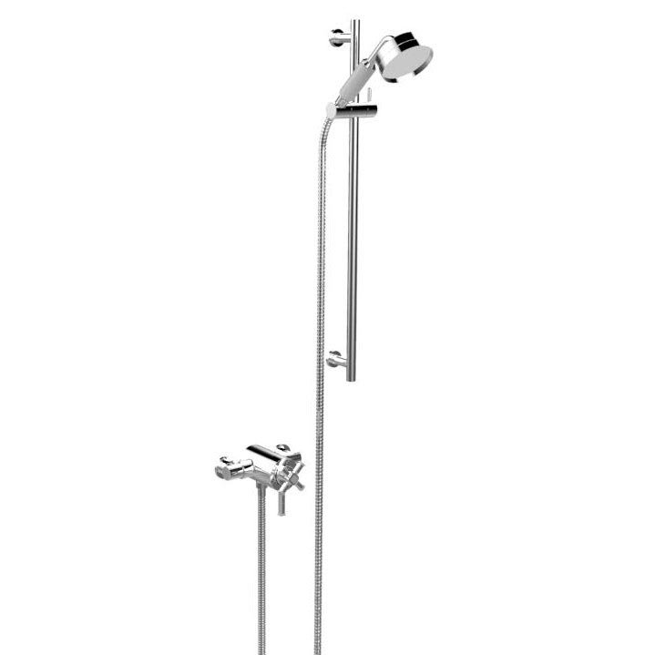 Heritage Somersby Exposed Shower with Deluxe Flexible Riser Kit - Chrome - SSOBDUAL05 Large Image