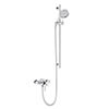 Heritage Somersby Exposed Shower with Deluxe Flexible Riser Kit - Chrome - SSOBDUAL05 profile small image view 1