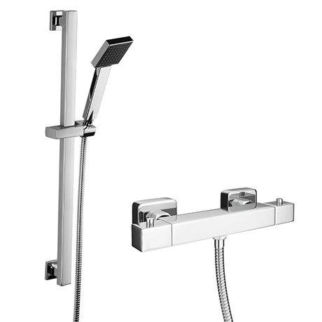 Milan Bar Shower Package with Modern Slider Handset Kit