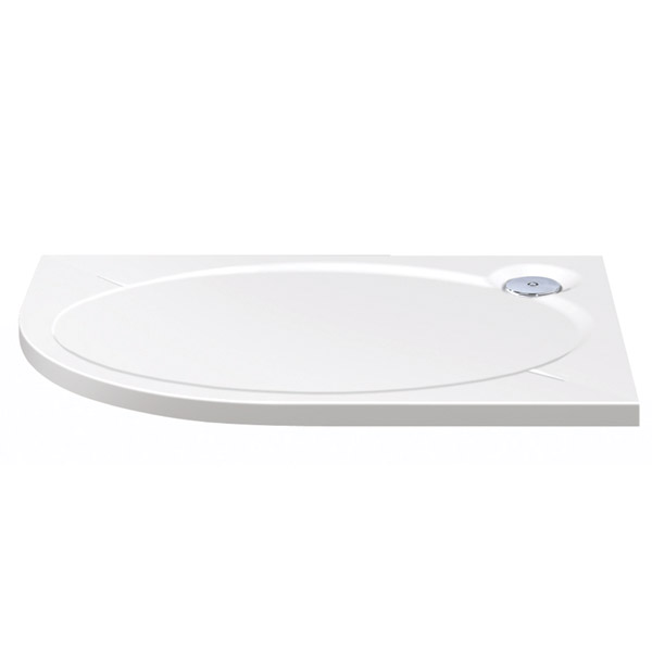 Coram Designer Slimline Offset Quadrant Shower Tray - 1200 x 900mm Large Image