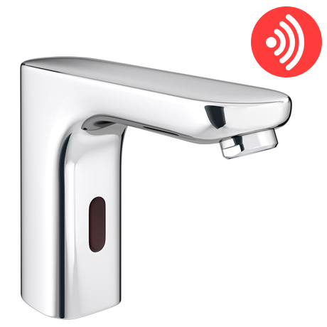 Apollo Angled Infrared Sensor Bathroom Mixer Tap - ST008