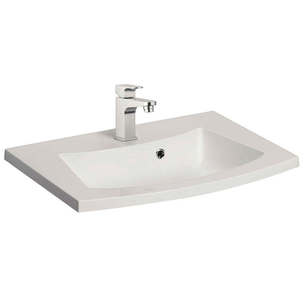 Bauhaus Stream 440mm Mineral Marble Basin 1TH - ST0520SRW Large Image