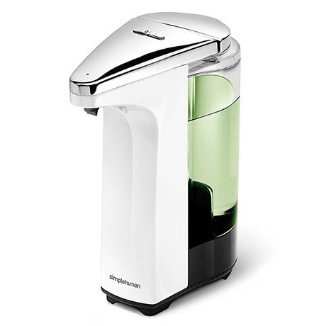 simplehuman Liquid Sensor Pump Soap Dispenser - White - ST1018