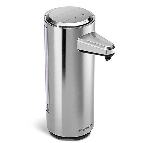 simplehuman Rechargeable Liquid Sensor Pump Soap Dispenser - Brushed Nickel - ST1034