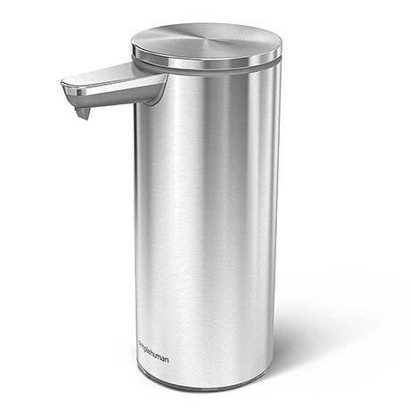 simplehuman Rechargeable Liquid Sensor Pump Soap Dispenser - Brushed Steel - ST1043