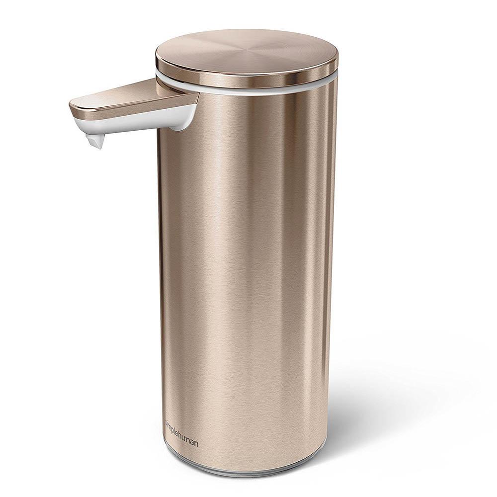 simplehuman Rechargeable Liquid Sensor Pump Soap Dispenser - Rose Gold Steel - ST1046