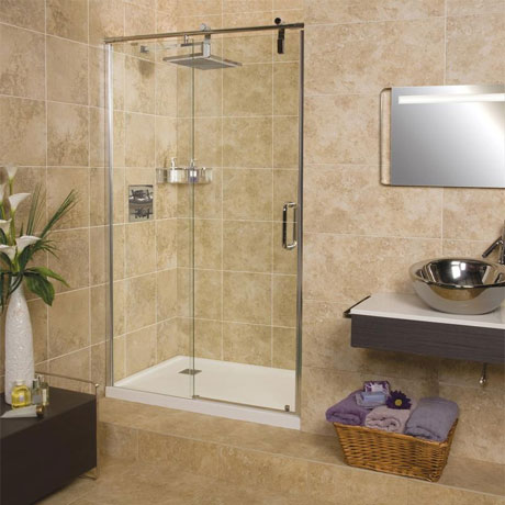 Roman Sculptures Sliding Shower Door