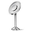 simplehuman Rechargeable Freestanding 20cm Cosmetic Sensor Mirror Pro - Brushed Steel - ST3007 profile small image view 1