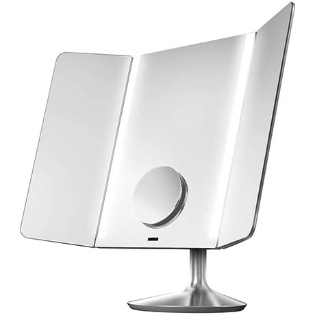 simplehuman Rechargeable Freestanding Wide-View Cosmetic Sensor Mirror Pro - ST3014