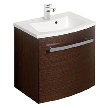 Bauhaus - Stream Wall Hung Vanity Unit with Basin - Wenge - 3 Size Options Medium Image