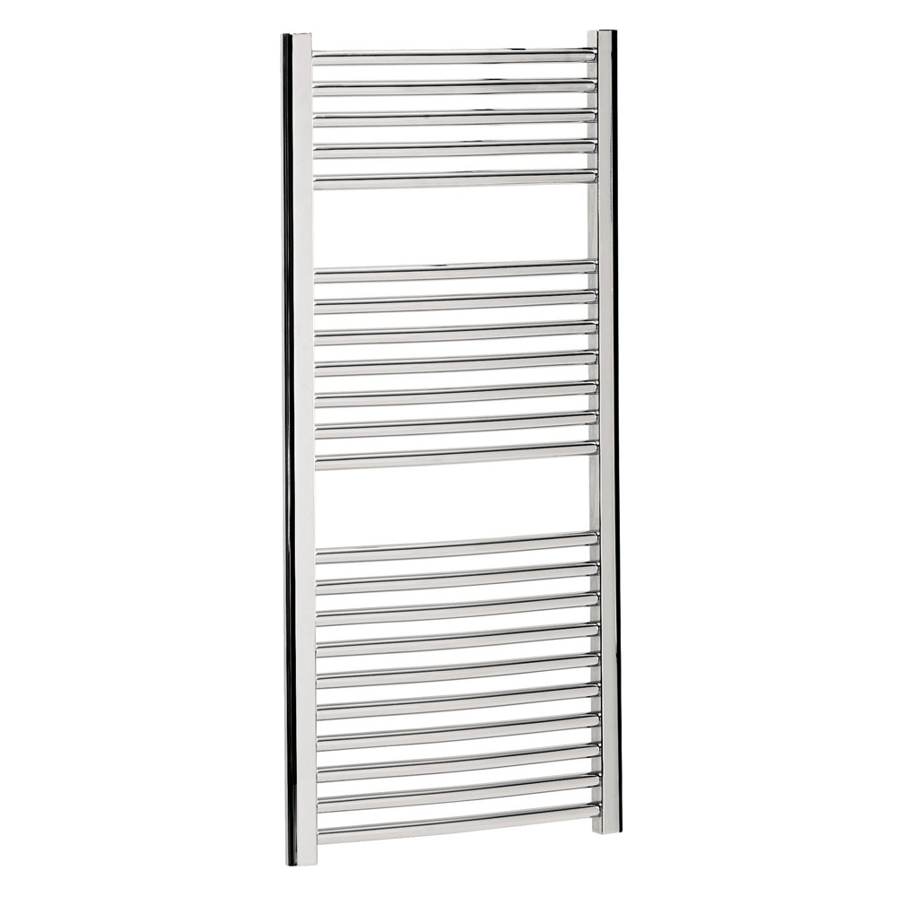 Bauhaus - Stream Curved Panel Towel Rail - Chrome - Various Size Options profile large image view 1