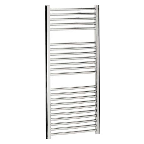 Bauhaus - Stream Curved Panel Towel Rail - Chrome - Various Size Options