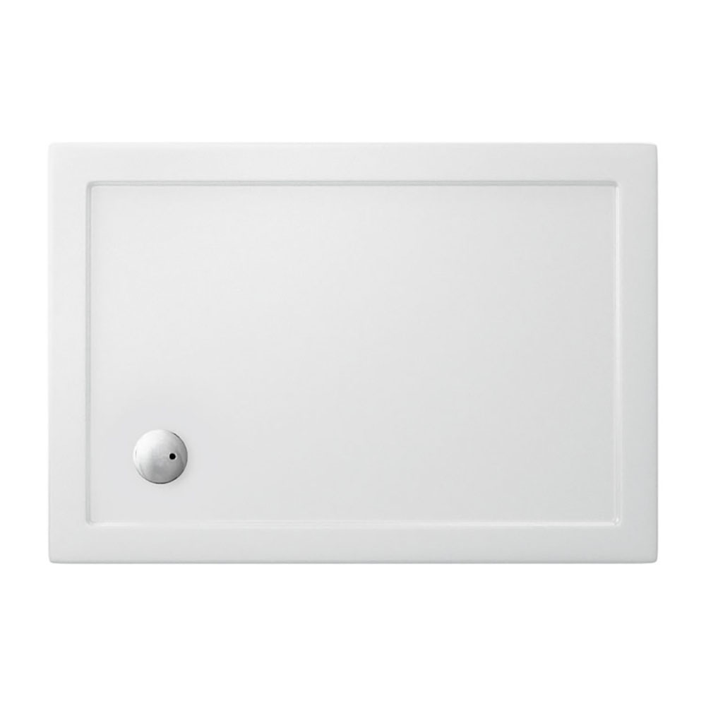 Crosswater - Rectangular Low Profile Acrylic Shower Tray with Waste - Various Size Options