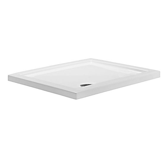 Simpsons - Rectangular Low Profile Acrylic Shower Tray with Waste - Various Size Options Large Image