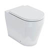 Britton Bathrooms Stadium Back To Wall Pan + Soft Close Seat profile small image view 1
