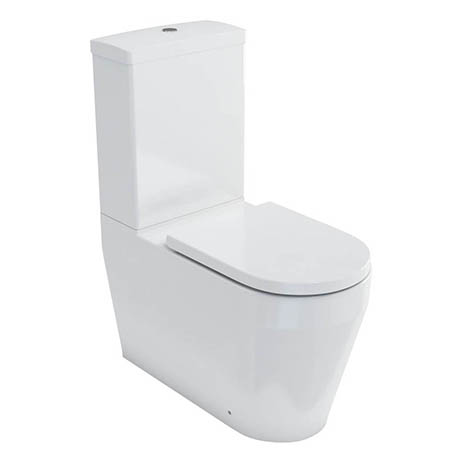 Britton Bathrooms Stadium Close Coupled Toilet + Soft Close Seat