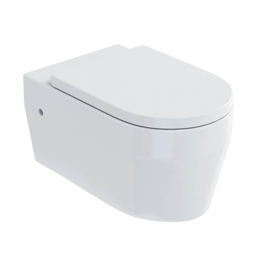 Britton Bathrooms Stadium Wall Hung Pan + Soft Close Seat