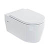Britton Bathrooms Stadium Wall Hung Pan + Soft Close Seat profile small image view 1