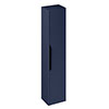 Britton Shoreditch Wall-Hung Tall Cabinet with Black Handle - Matt Blue profile small image view 1
