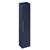 Britton Shoreditch Wall-Hung Tall Cabinet with Brass Handle - Matt Blue profile small image view 1