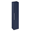 Britton Shoreditch Wall-Hung Tall Cabinet with Chrome Handle - Matt Blue profile small image view 1