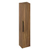 Britton Shoreditch Wall-Hung Tall Cabinet with Black Handle - Caramel profile small image view 1
