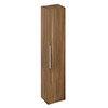 Britton Shoreditch Wall-Hung Tall Cabinet with Chrome Handle - Caramel profile small image view 1