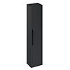 Britton Shoreditch Wall-Hung Tall Cabinet with Black Handle - Matt Grey profile small image view 1