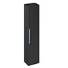 Britton Shoreditch Wall-Hung Tall Cabinet - Matt Grey profile small image view 1