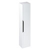 Britton Shoreditch Wall-Hung Tall Cabinet with Black Handle - Matt White profile small image view 1