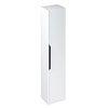 Britton Shoreditch Wall-Hung Tall Cabinet with Black Handle - Matt White profile small image view 1