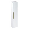 Britton Shoreditch Wall-Hung Tall Cabinet with Brass Handle - Matt White profile small image view 1