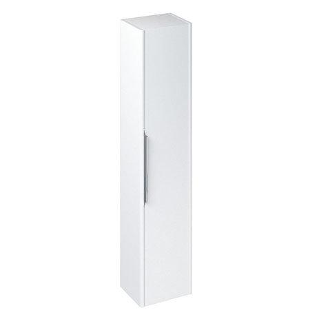 Britton Shoreditch Wall-Hung Tall Cabinet - Matt White