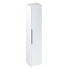 Britton Shoreditch Wall-Hung Tall Cabinet with Chrome Handle - Matt White profile small image view 1