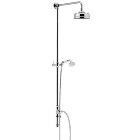Heritage Fixed Kit with Diverter, Rose and Handset - Chrome - STC15