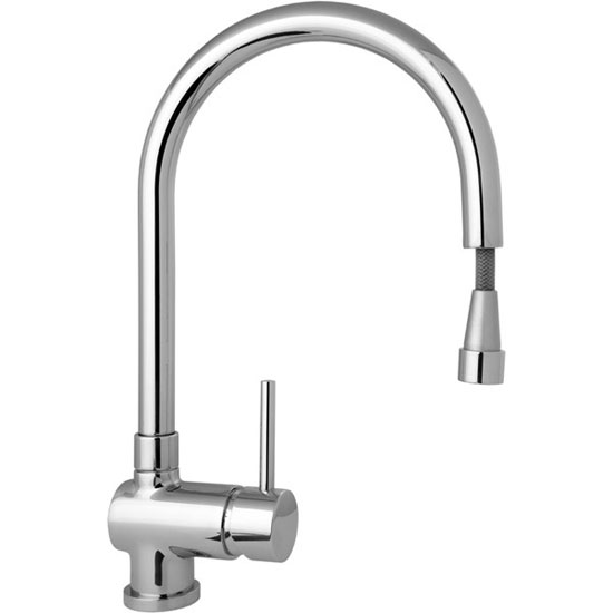 Deva - Stick Mono Kitchen Sink Mixer with Pull Out Rinser - STICK104 Profile Large Image