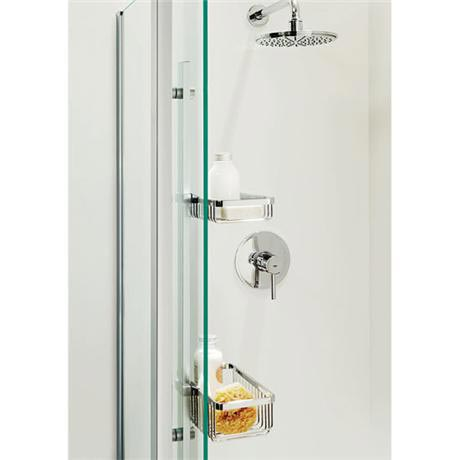 Coram storage system for plain glass pillar shower spp for Chatsworth bathroom faucet parts