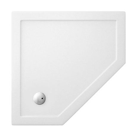 Crosswater - Pentagon Low Profile Acrylic Shower Tray with Waste - 900 x 900 x 35mm