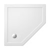 Crosswater - Pentagon Low Profile Acrylic Shower Tray with Waste - 900 x 900 x 35mm profile small image view 1