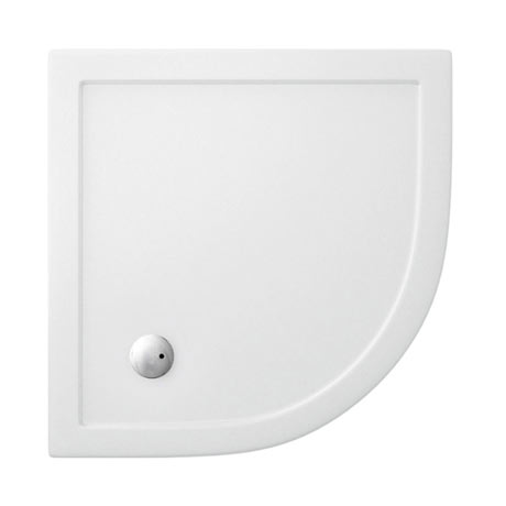 Simpsons - Quadrant Low Profile Acrylic Shower Tray with Waste - 3 Size Options