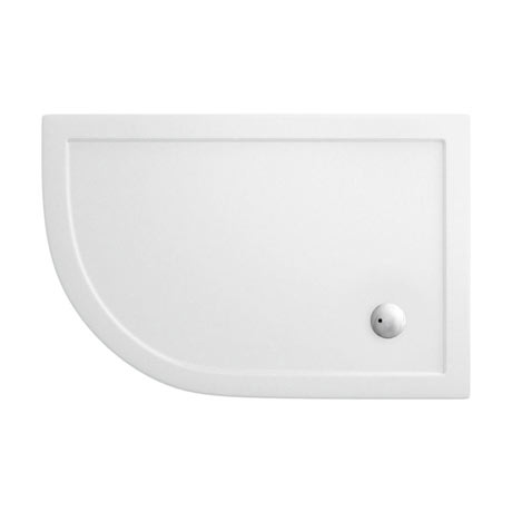 Simpsons - Offset Quadrant Low Profile Acrylic Shower Tray w/ Waste - Left Hand - 3 Size Options