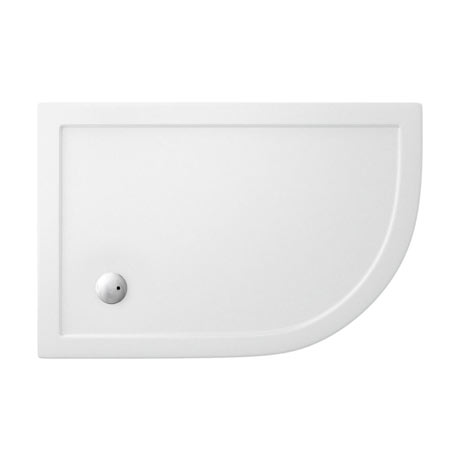 Simpsons - Offset Quadrant Low Profile Acrylic Shower Tray w/ Waste - Right Hand - 3 Size Options