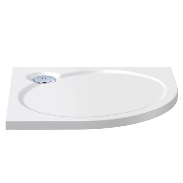 Coram Designer Slimline Quadrant Shower Tray - 2 Size Options Large Image