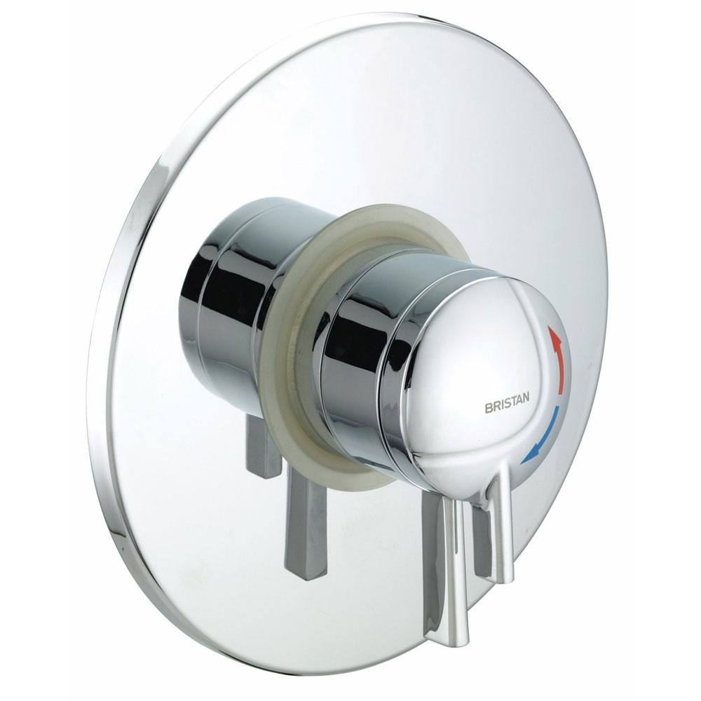 Bristan - Stratus Thermostatic Dual Control Concealed Shower Valve with Chrome Levers - STR-TS1875-CDC-C profile large image view 1