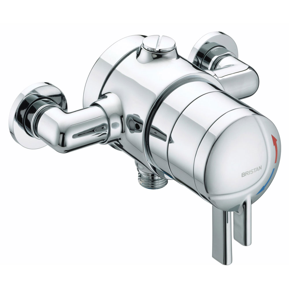 Bristan - Stratus Thermostatic Dual Control Exposed Shower Valve with Chrome Levers - STR-TS1875-EDC