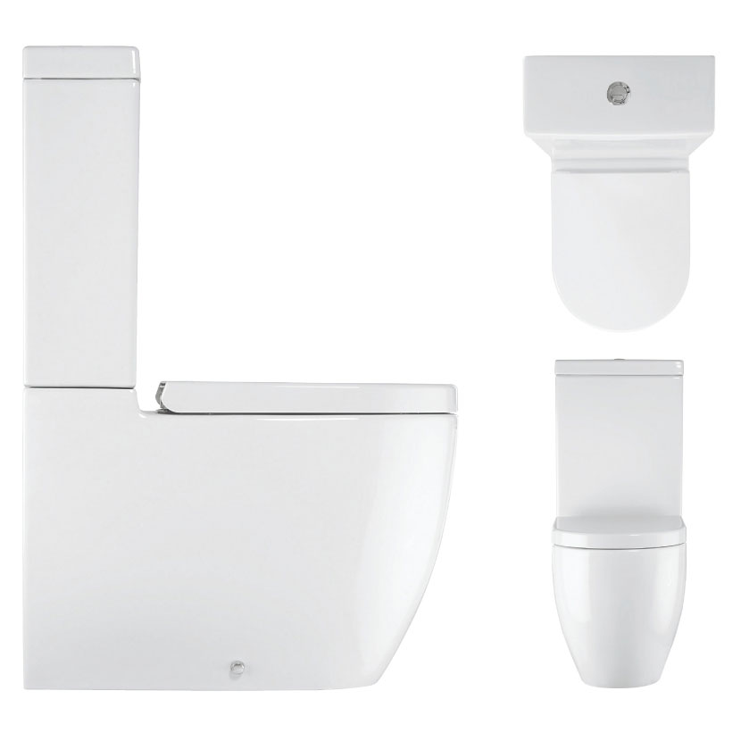 Bauhaus - Stream II Close Coupled Toilet with Soft Close Seat Profile Large Image