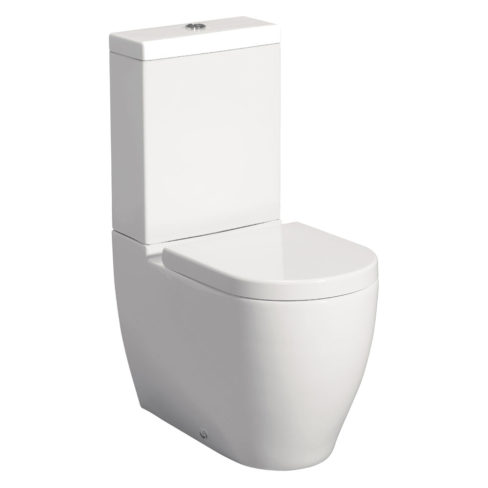 Bauhaus - Stream II Close Coupled Toilet with Soft Close Seat Large Image
