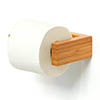 Slimline Toilet Roll Holder Bamboo profile small image view 1