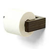 Slimline Toilet Roll Holder Dark Oak profile small image view 1